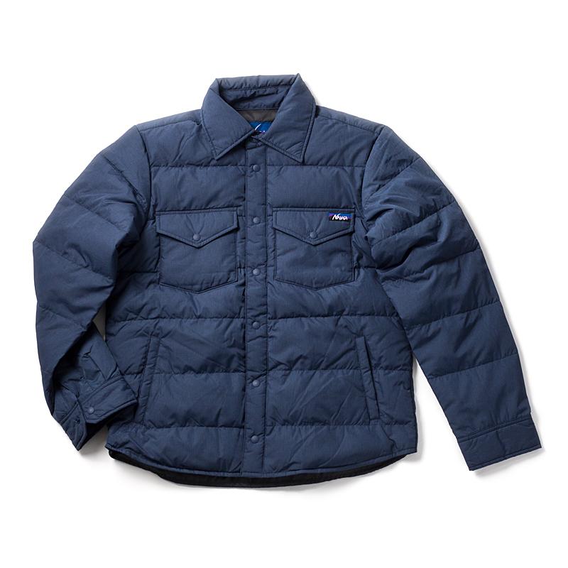 【送料無料】ナンガ(NANGA) DOWN SHIRTS(ダウンシャツ) L ネイビー DST-8