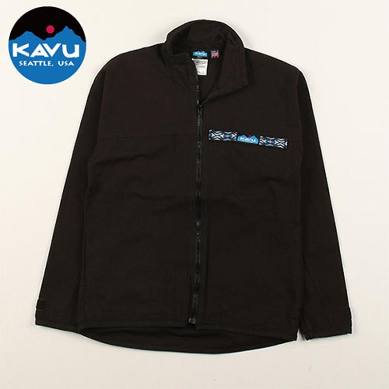 KAVU(カブー) F/Z Throw Shirts(フルジップ スローシャツ) L Black(ブラック) 19810052001007