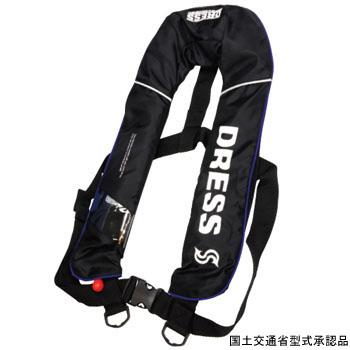 ドレス(DRESS) DRESS 自動膨張ベスト フリー ブラック LD-OP-1101【あす楽対応】