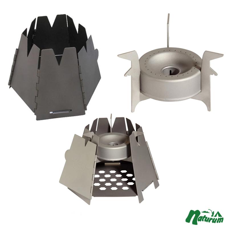 VARGO(バーゴ) チタニウム ヘキサゴンウッドストーブ+チタニウムコンバーターストーブ T-415+T-307