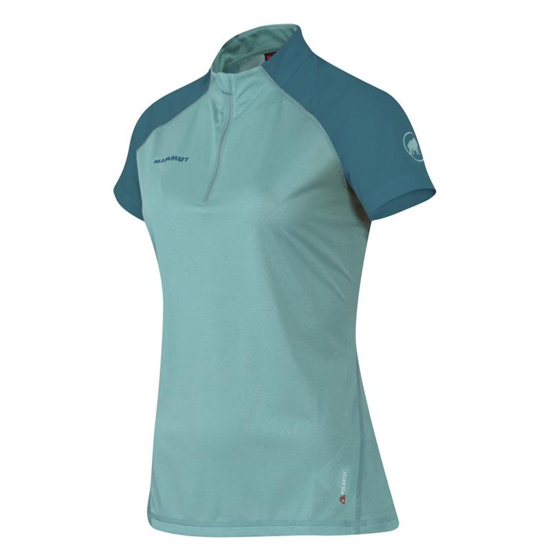 MAMMUT(マムート) Illiniza Light Zip T-Shirt AF Women's XS 5776(fiji×dark pacific) 1041-07930