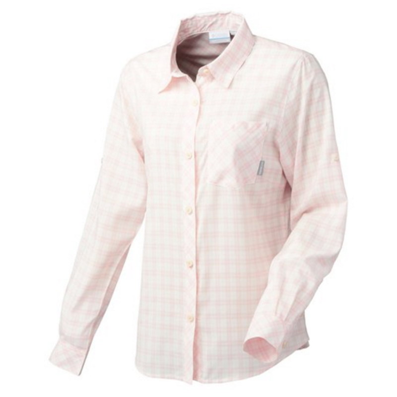 Columbia(コロンビア) VERTICAL RELIEF WOMEN'S R FIT LONG SLEEVE SHIRT M 952(SATIN PINK) PL7956