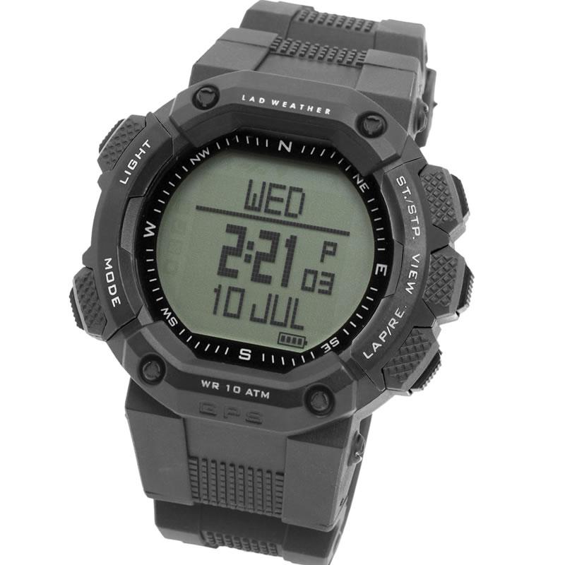 LAD WEATHER(ラドウェザー) GPS MASTER グレー×通常液晶 lad006bk3