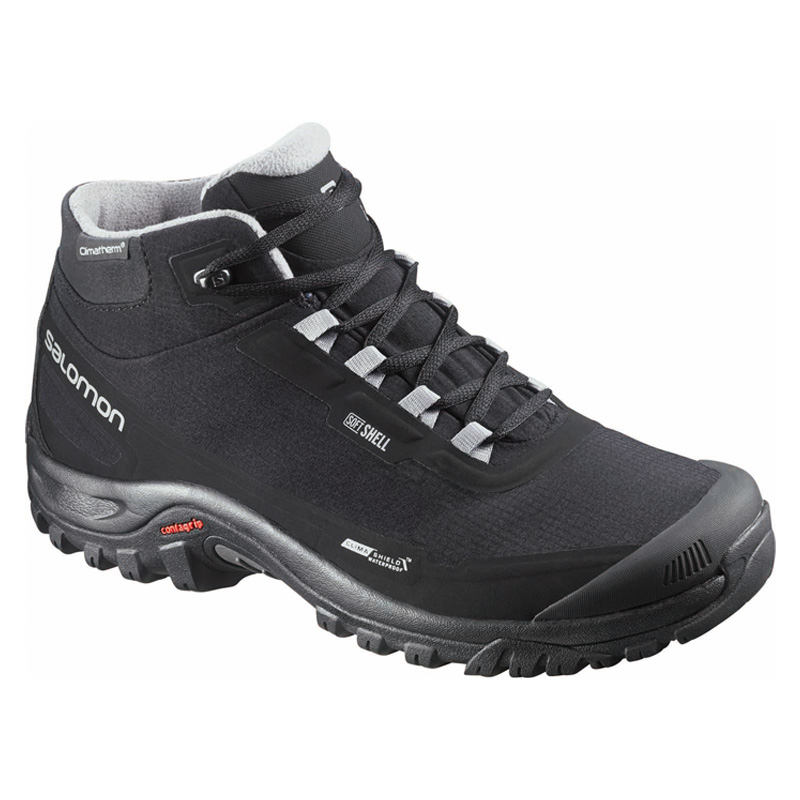 【送料無料】SALOMON(サロモン) FOOTWEAR SHELTER CS WP 27.5cm BLACK×BLACK×PTR L37281100【SMTB】