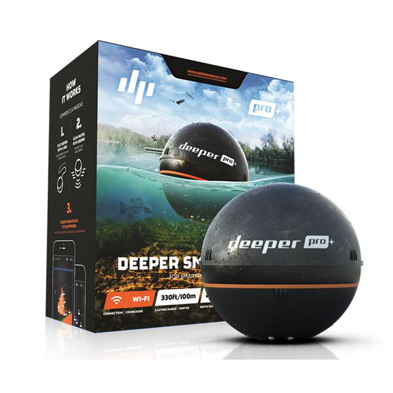 【送料無料】ディーパー Deeper Pro+(ディーパー プロ+) ワイヤレススマート GPS 魚群探知機【SMTB】