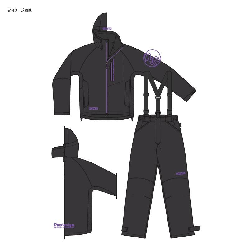 パズデザイン BSウォームレインスーツII L ブラックパープル SBR-035