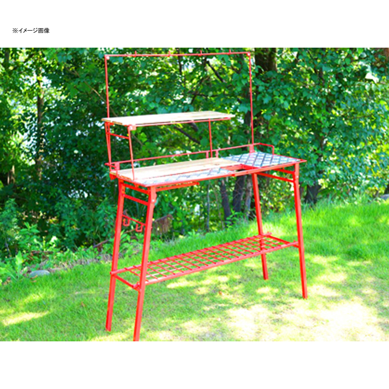 【送料無料】ネイチャートーンズ(NATURE TONES) The Kitchen Counter Table(キッチンカウンターテーブル)+オプションセット レッド KCT-R+OP