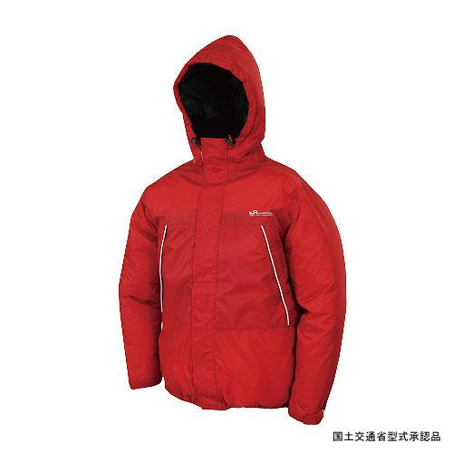 Takashina(高階救命器具) 防寒防水ダウンライフジャケット L レッド BSJ-DJ01(L3)