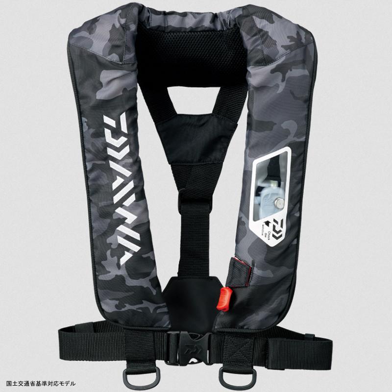 【送料無料】ダイワ(Daiwa) DF-2007 ウォッシャブルライフジャケット(肩掛けタイプ手動・自動膨脹式) フリー ブラックカモ 04595371【あす楽対応】