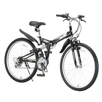 Raychell(レイチェル) 26インチ18段変速Wサスペンション装備折り畳みマウンテンバイク MTB-2618R 26インチ ブラック 10460