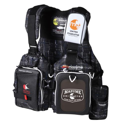 MAZUME(マズメ) MZレッドムーンライフジャケット ロックショアスペシャル フリー ブラックカスリ MZLJ-310-01