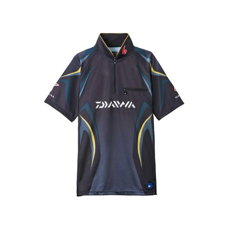 ダイワ(Daiwa) DE-7107 スペシャル アイスドライ ジップアップ半袖メッシュシャツ L マスターブラック 04517957