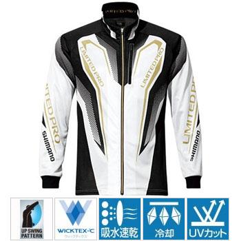 シマノ(SHIMANO) SH-011P WT-度・フルジップリミテッドプロシャツ 2XL ホワイト 45583