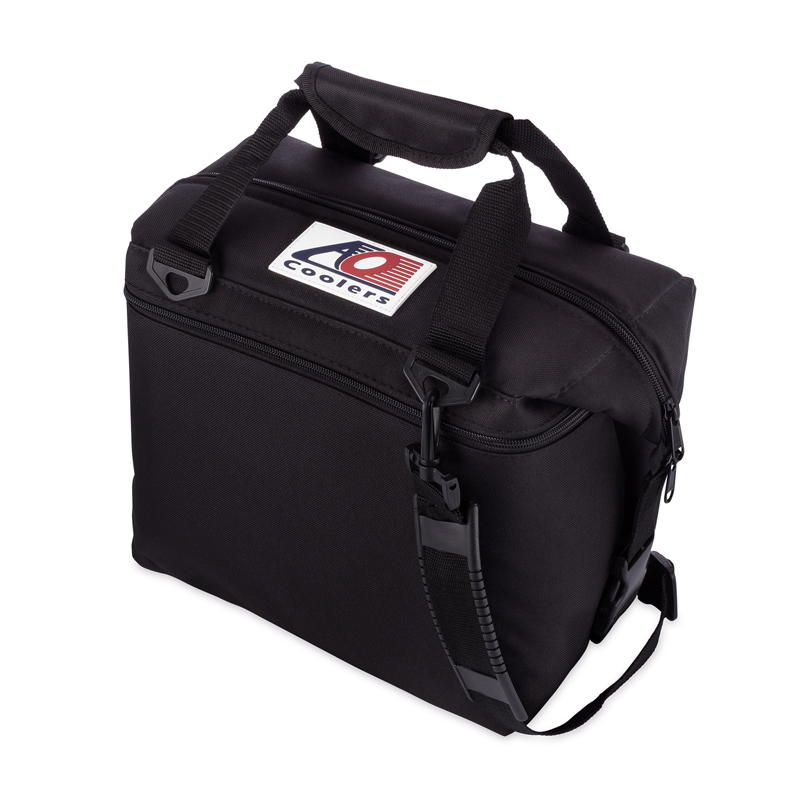 【送料無料】AO Coolers(エーオー クーラーズ) 12 パック キャンバス ソフトクーラー 11.35L ブラック AO12BK【SMTB】