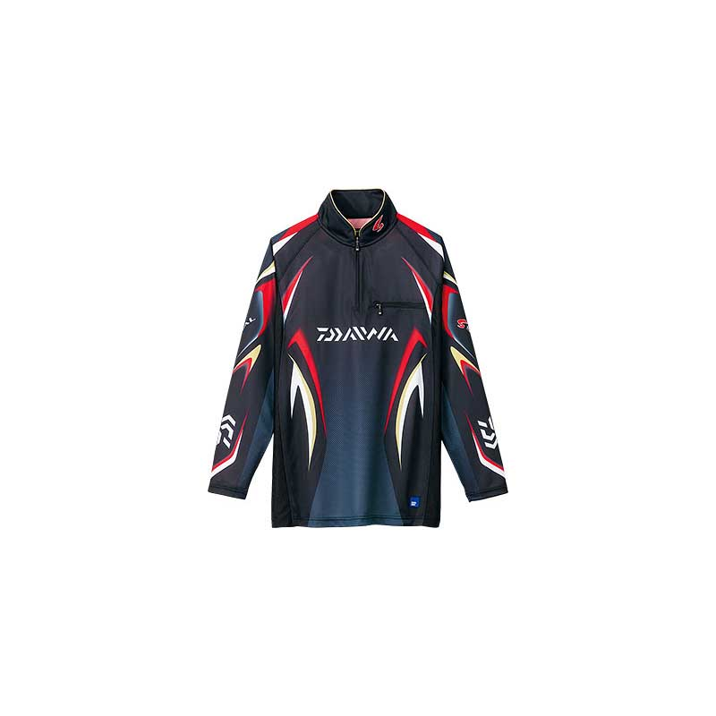 ダイワ(Daiwa) DE-7006 スペシャル アイスドライ ジップアップ長袖メッシュシャツ 2XL ブラック 04517744