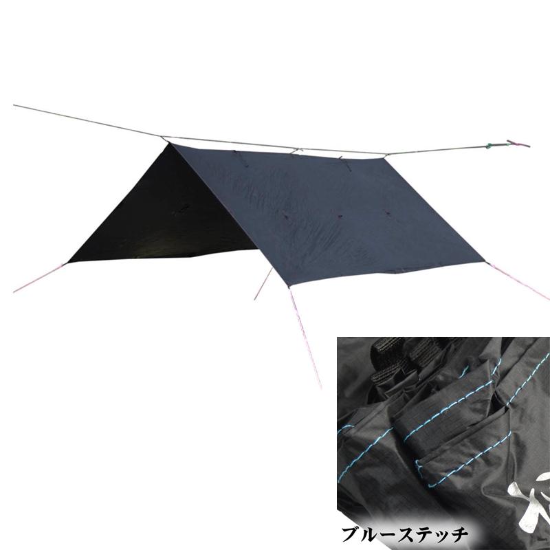 【送料無料】Bush Craft(ブッシュクラフト) ORIGAMI TARP(オリガミタープ) 3×3 ブルーステッチ 02-06-tent-0011