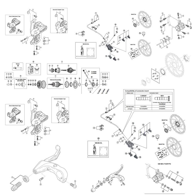 シマノ(SHIMANO/サイクル) ESTA070PACX1 デュアルコントロールレバー 2×7S 21910703