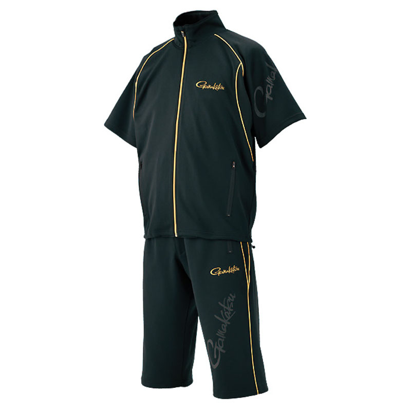がまかつ(Gamakatsu) ジャージスーツ(半袖) GM3470 L ブラック 53470-13-0