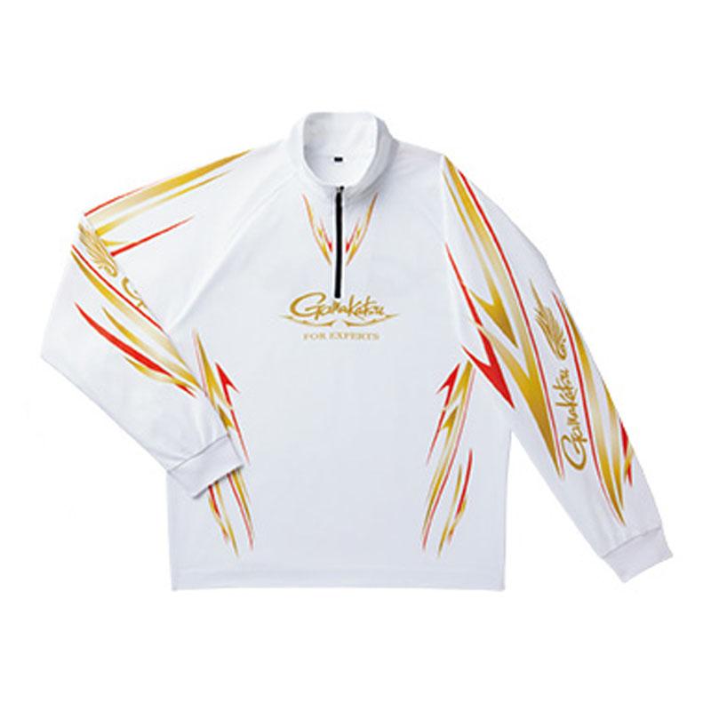 がまかつ(Gamakatsu) 2WAYプリントジップシャツ(長袖) GM3474 LL ホワイト 53474-24-0