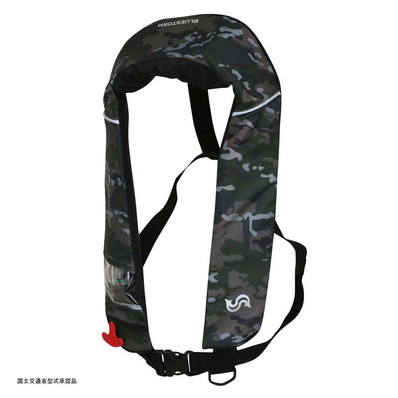 Takashina(高階救命器具) 国土交通省承認 首掛け式ライフジャケット 桜マーク タイプA グリーンカモ BSJ-2520RS【あす楽対応】