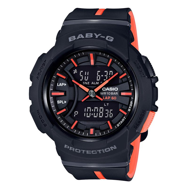 【送料無料】BABY-G(ベビージー) 【国内正規品】BGA-240L-1AJF10気圧防水 ブラック×オレンジ【SMTB】