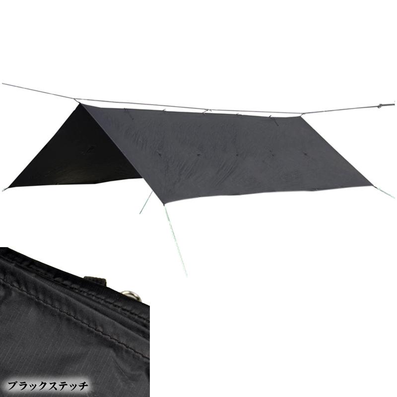 Bush Craft(ブッシュクラフト) ORIGAMI TARP(オリガミタープ) 4.5×3 ブラックステッチ 02-06-tent-0012