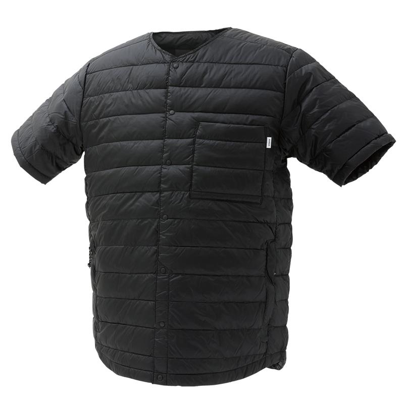 【送料無料】ナンガ(NANGA) ダウン Tシャツ L BLK DT106【あす楽対応】