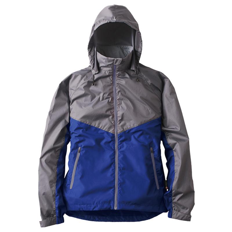 ロゴス(LOGOS) リフレクターウインドジャケット チャック M ブルー 30782153