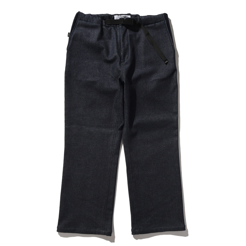 BELLWOODMADE(ベルウッドメイド) AWESOME PANTS WIDE WARM DENIM S BLACK BWAPW11S2436