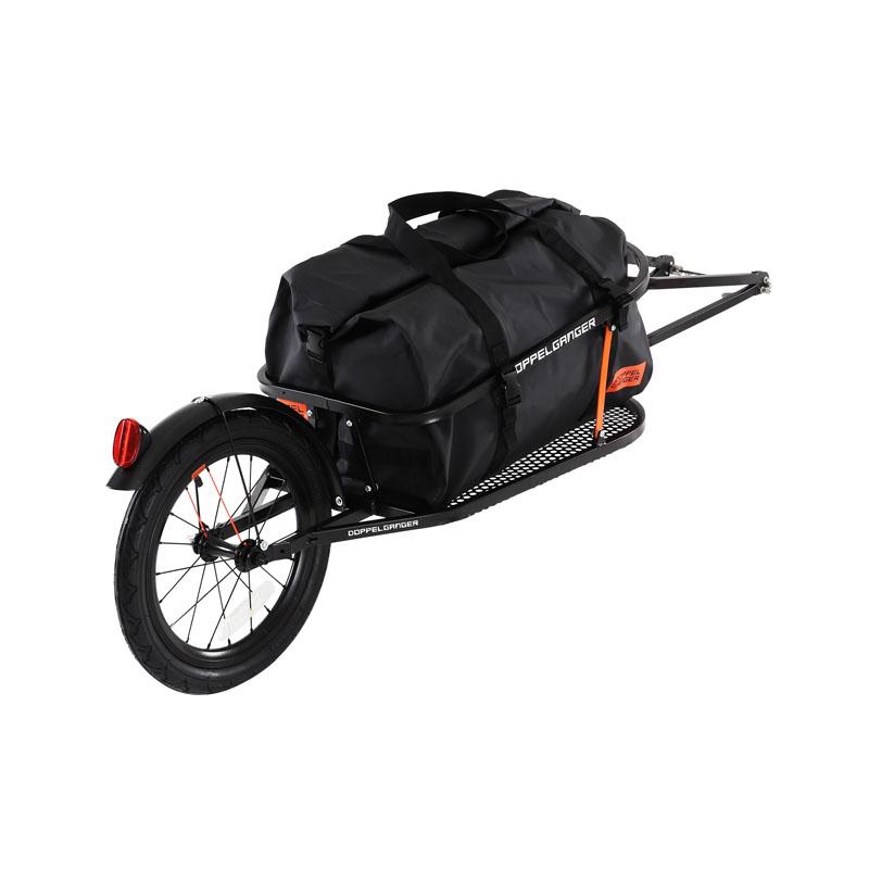 【送料無料】ドッペルギャンガー(DOPPELGANGER) シングルホイール サイクルトレーラー ブラック DCR363-DP