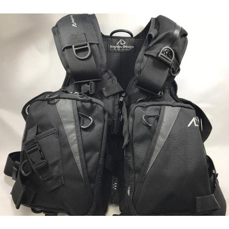 【送料無料】アングラーズデザイン(Anglers-Design) オールラウンドベスト フリー ブラック RS-2BK【SMTB】