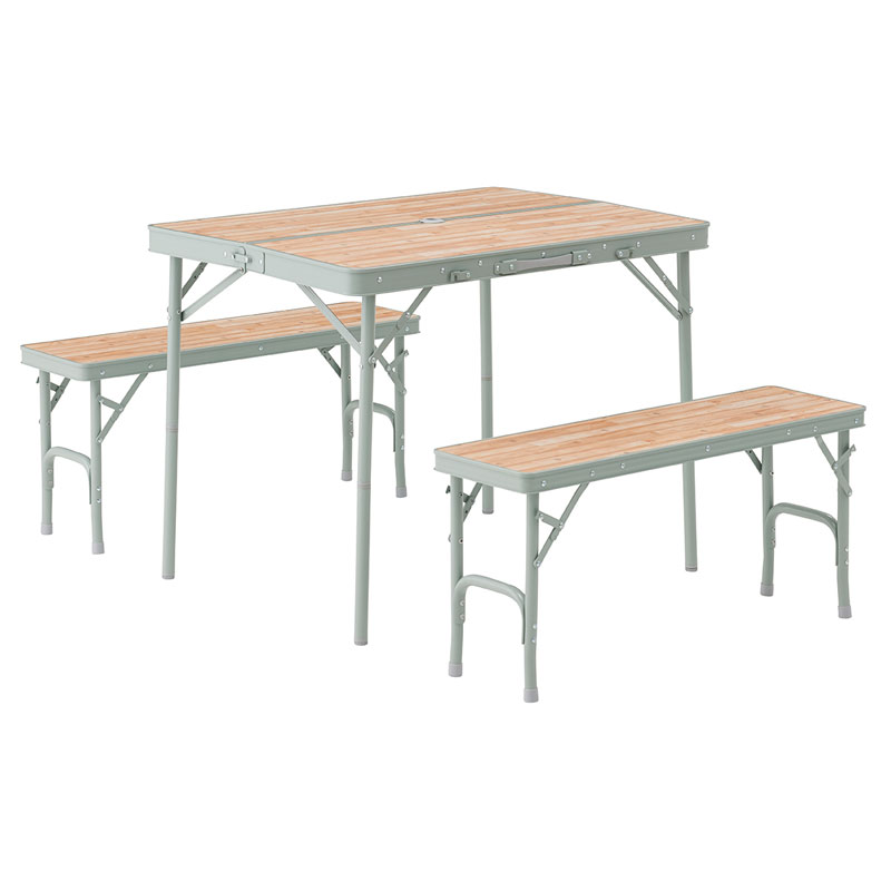 【送料無料】ロゴス(LOGOS) Life ベンチテーブルセット4 73183013