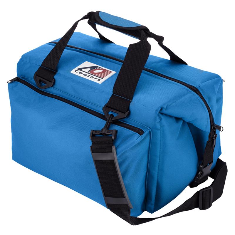 【送料無料】AO Coolers(エーオー クーラーズ) 24パック キャンバス ソフトクーラー デラックス 23L ブルー AO24DXRB【SMTB】
