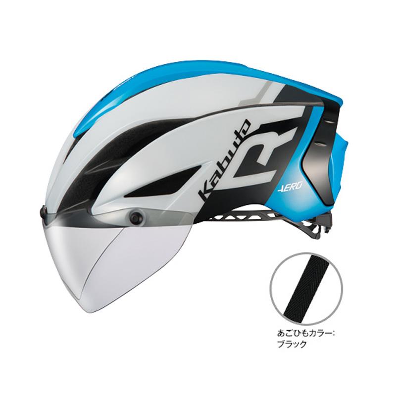 オージーケー カブト(OGK KABUTO) ヘルメット AERO-R1 (エアロ-R1) L/XL G-1ホワイトブルー