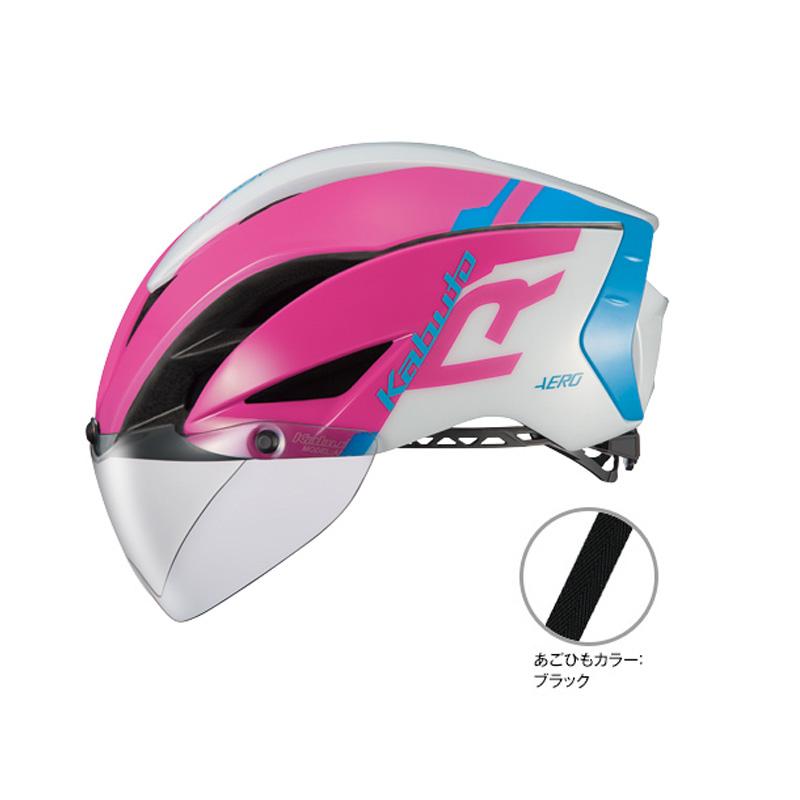 オージーケー カブト(OGK KABUTO) ヘルメット AERO-R1 (エアロ-R1) S/M G-1ピンクブルー