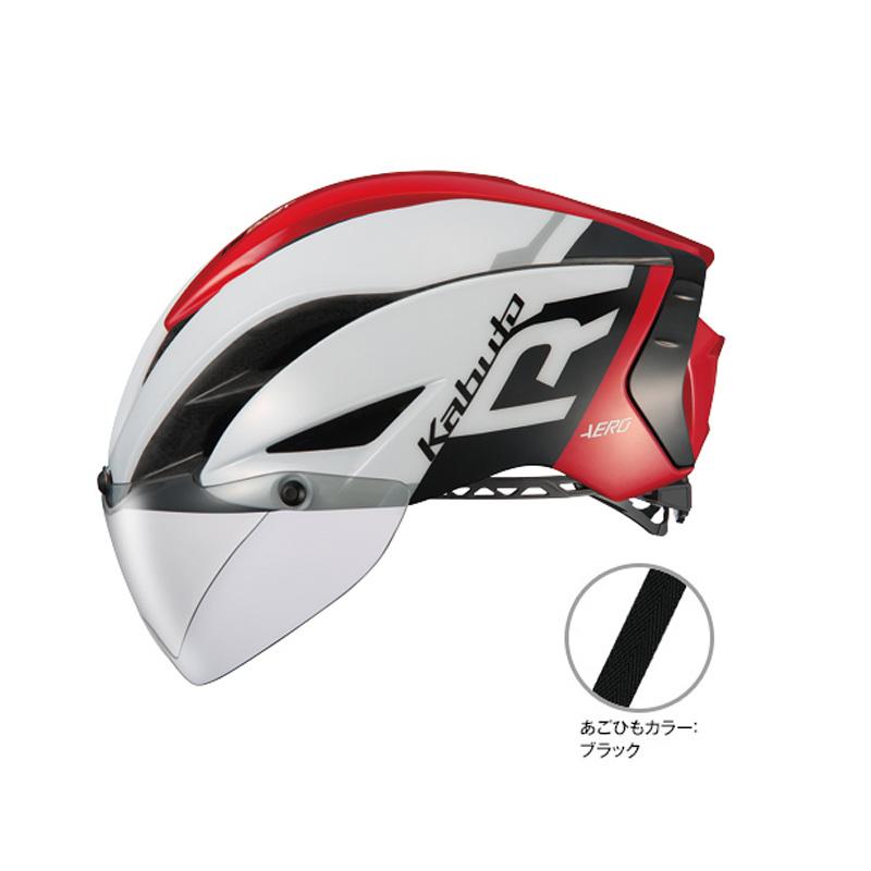 オージーケー カブト(OGK KABUTO) ヘルメット AERO-R1 (エアロ-R1) L/XL G-1ホワイトレッド