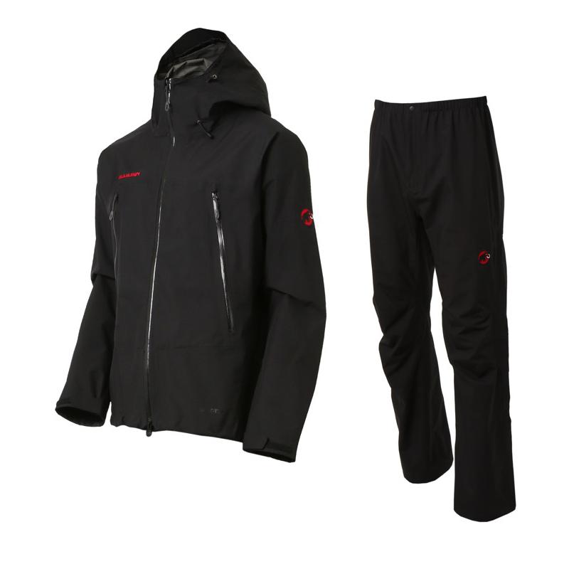 【送料無料】MAMMUT(マムート) CLIMATE Rain -Suits Men's L black-black 1010-26550【SMTB】