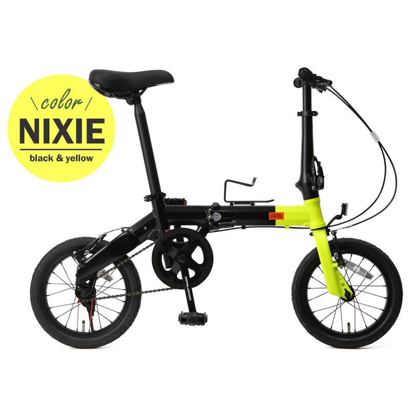 ドッペルギャンガー(DOPPELGANGER) 14インチ折りたたみ自転車 YL(ネオンイエロー×ブラック) 140-S-YL