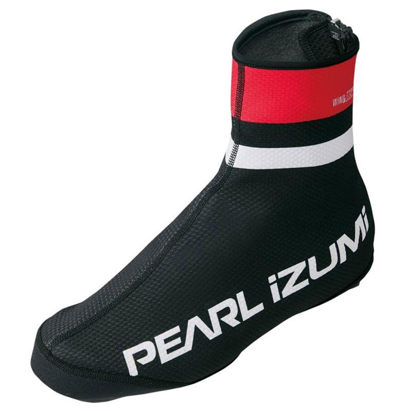 パールイズミ(PEARL iZUMi) ウィンドブレーク プリント シューズカバー M 6(ブラック×レッド) 7997-6-M