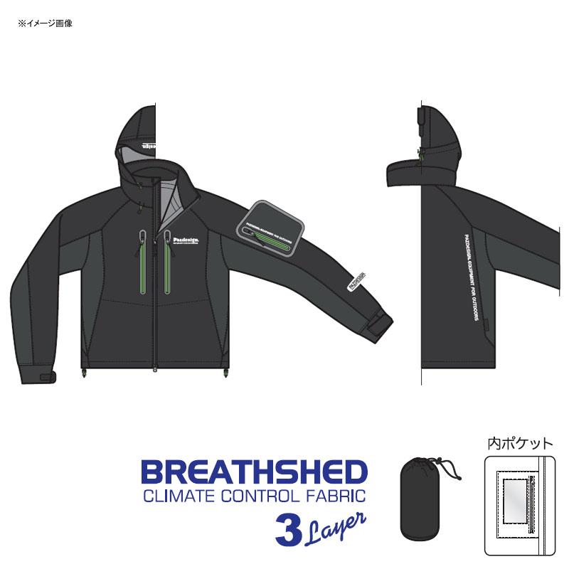 パズデザイン BSストレッチウェーディングジャケット 3L ブラックグリーン SBR-038