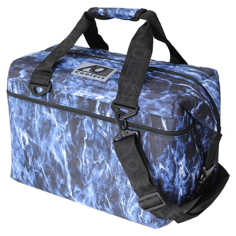 AO Coolers(エーオー クーラーズ) 24パック キャンバス ソフトクーラー 23L モッシーオークブルーフィン AOELBF24【あす楽対応】
