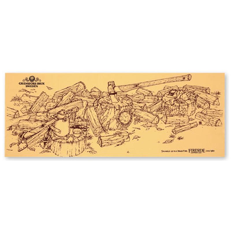 ファイヤーサイド(Fireside) 絵画手ぬぐい グレンスフォシュブルーク 350×900mm イエロー 82003