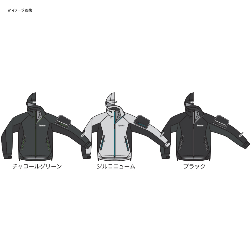 パズデザイン BSストレッチレインジャケット 3L ブラック SBR-036