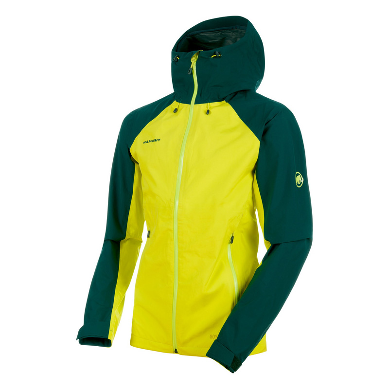 MAMMUT(マムート) Convey Tour HS Hooded Jacket Men's L canary×dark teal 1010-26031