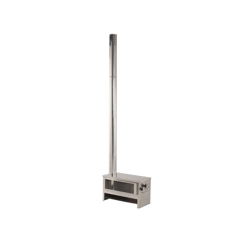 【送料無料】DOD(ディーオーディー) メラテレビ16型 薪ストーブ シルバー MS3-613-SL