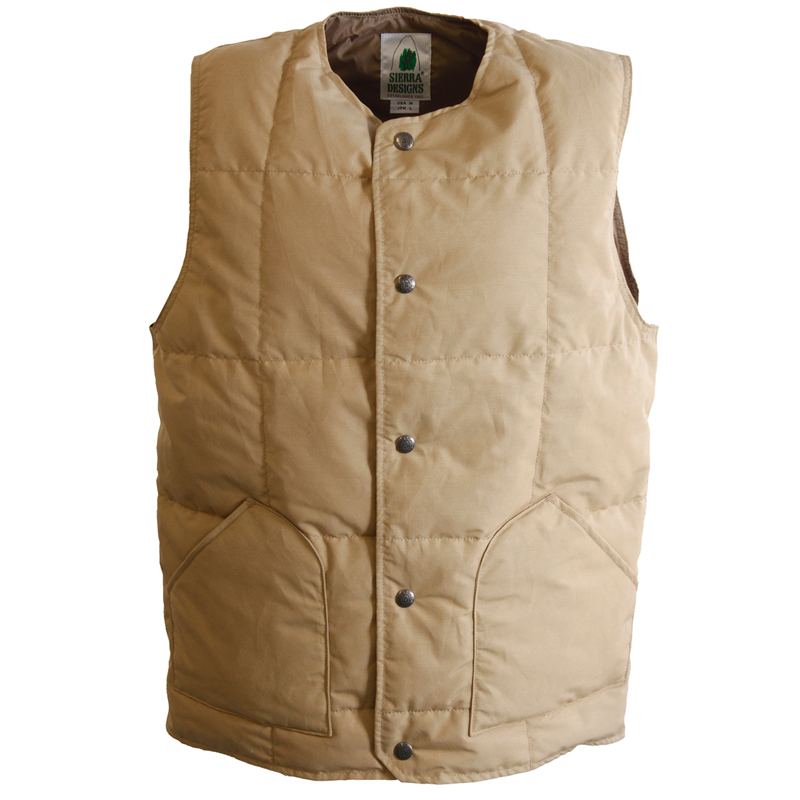 【送料無料】SIERRA DESIGNS(シエラデザインズ) CREW NECK DOWN VEST M V.tan 7986