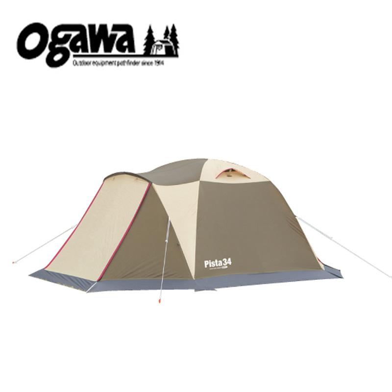 【送料無料】ogawa(小川キャンパル) ピスタ34 ブラウン×サンド×レッド 2657
