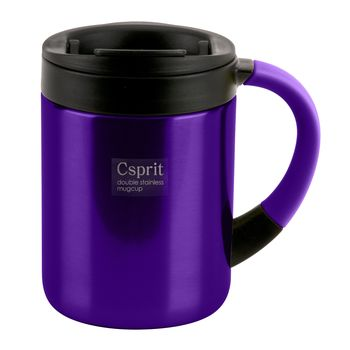 キャプテンスタッグ(CAPTAIN STAG) シーエスプリ ダブルステンレスマグカップ 280ml パープル M-5363
