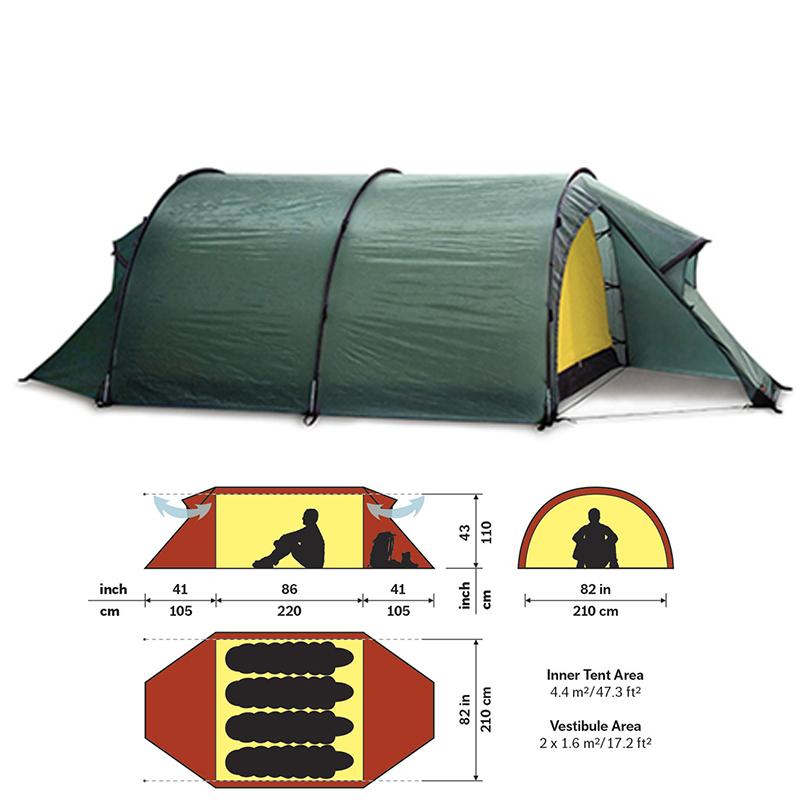 HILLEBERG(ヒルバーグ) テント ケロン4 グリーン 12770012008004