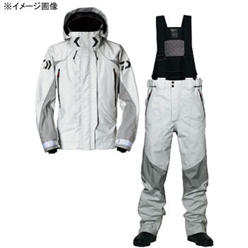 ダイワ(Daiwa) DR-1002 ゴアテックス ストレッチサロペットレインスーツ XL ライトグレー 04533367